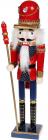 Статуетка декоративна «Лускунчик» 38см, дерев'яна, червоний з синім