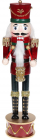 Статуетка декоративна «Лускунчик з барабаном» 40см, бордо