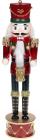 Статуэтка декоративная «Щелкунчик с барабаном» 50см, деревянная, бордо