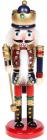 Статуетка декоративна «Лускунчик» 20см, дерев'яна, червоний з синім