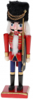 Статуэтка декоративная «Щелкунчик в шапке» 20см, деревянная, красный с синим