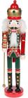 Статуетка декоративна «Лускунчик» 38см, дерев'яна, червоний з зеленим