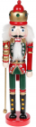 Статуэтка декоративная «Щелкунчик» 38см, деревянная, красный с зеленым