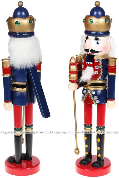 Статуэтка декоративная «Щелкунчик» 38см, деревянная, синий с красным