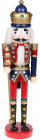 Статуетка декоративна «Лускунчик» 38см, дерев'яна, синій з червоним