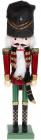 Статуетка декоративна «Лускунчик в шапці» 38см, бордо