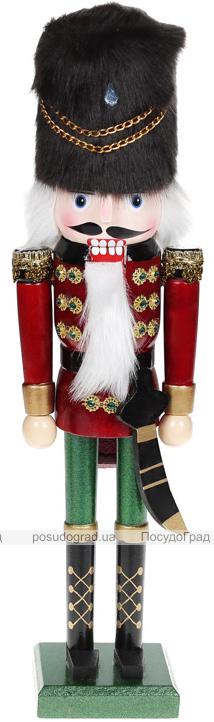 Статуэтка декоративная «Щелкунчик в шапке» 38см, деревянная, бордо