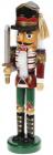 Статуэтка декоративная «Щелкунчик с мечом» 25см, деревянная, красный с зеленым и черным