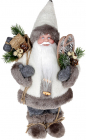 "Декоративная фигура ""Санта в шубке"" 30см, серый"