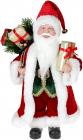 """Декоративна фігура """"Санта"""" 30см, червоний зі смарагдом"""