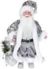 "Декоративная фигура ""Санта с мешком"" 30см, серебристый"