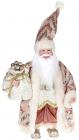 """Декоративная фигура """"Санта с мешком"""" 30см, розовый"""