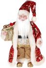 """Декоративная фигура """"Санта с мешком"""" 30см, красный с золотом"""