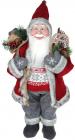 """Мягкая игрушка """"Санта с подарками"""" 45см, красный с серым"""