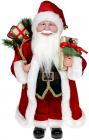"""Декоративна фігура """"Санта з подарунками"""" 45см, червоний з золотом"""