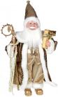 """Декоративная фигура """"Санта с посохом"""" 45см, золотистый"""