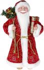 """Декоративная фигура """"Санта с подарками"""" 45см, красный с золотистым"""