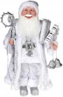 """Декоративна фігура """"Санта з посохом"""" 45см, сріблястий"""
