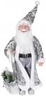 """Декоративна фігура """"Санта з мішком"""" 45см, сріблястий"""