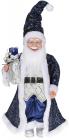 """Декоративна фігура """"Санта з мішком"""" 45см, синій"""