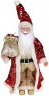 """Декоративна фігура """"Санта з мішком"""" 45см, червоний з золотом"""
