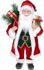 """Декоративна фігура """"Санта з подарунками"""" 60см, червоний з золотом"""