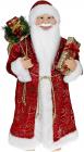 """Декоративна фігура """"Санта з подарунками"""" 60см, червоний з золотистим"""