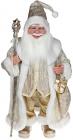 """Декоративна фігура """"Санта з посохом"""" 60см, шампань"""