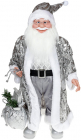 """Декоративна фігура """"Санта з мішком"""" 60см, сріблястий"""
