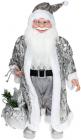 "Декоративная фигура ""Санта с мешком"" 60см, серебристый"