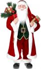 """Декоративна фігура """"Санта з подарунками"""" 90см, червоний з золотом"""