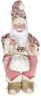 """Декоративна фігура """"Санта з мішком"""" 40см, рожевий, сидячий"""