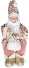 """Декоративная фигура """"Санта с мешком"""" 40см, розовый, сидячий"""
