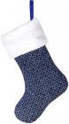 """Носок для подарков """"Блестящий синий"""" 43см"""