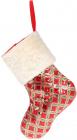 """Носок для подарунків """"Блискучий червоний"""" 43см з паєтками"""