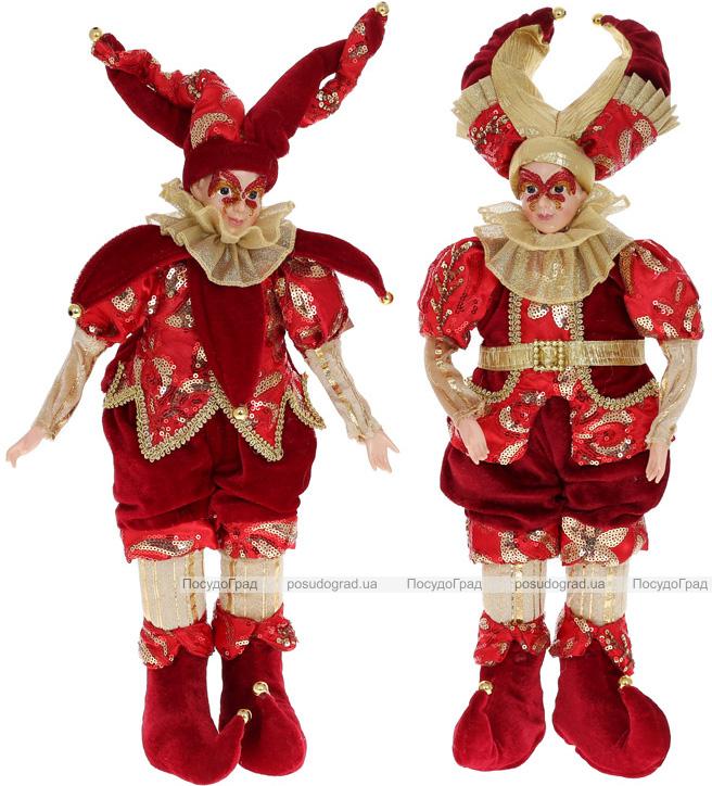 """Игрушка для декора """"Арлекин"""" красный с золотом 45см, 2 дизайна"""