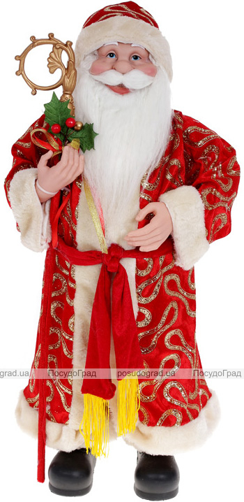 """М'яка іграшка """"Санта з посохом"""" 61см, червоний"""