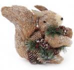 """Декоративна іграшка """"Білочка"""" 25см з використанням натуральних матеріалів"""