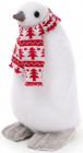 """Фігура декоративна """"Пінгвін в шарфику"""" 16х16х26см"""