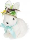 """Декоративна фігура """"Кролик в капелюшку"""" 20х13х24см, пінопласт"""