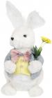 """Декоративна фігура """"Кролик у фраку"""" 18х17х38см, пінопласт, блакитний"""
