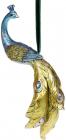 """Статуетка підвісна """"Павич"""" 10.5х7х22см синій з золотом"""