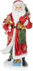"""Фігура """"Санта з дзвіночками"""" 21х18.5х45см, полістоун, червоний з золотом"""