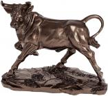 Декоративная статуэтка «Бык» 22.2х11х18см, полистоун, бронза
