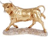 Декоративная статуэтка «Бык» 34х14х25см, полистоун, золото