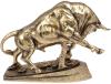 Декоративна статуетка «Бик» 38х13.5х28.5см, полістоун, латунь