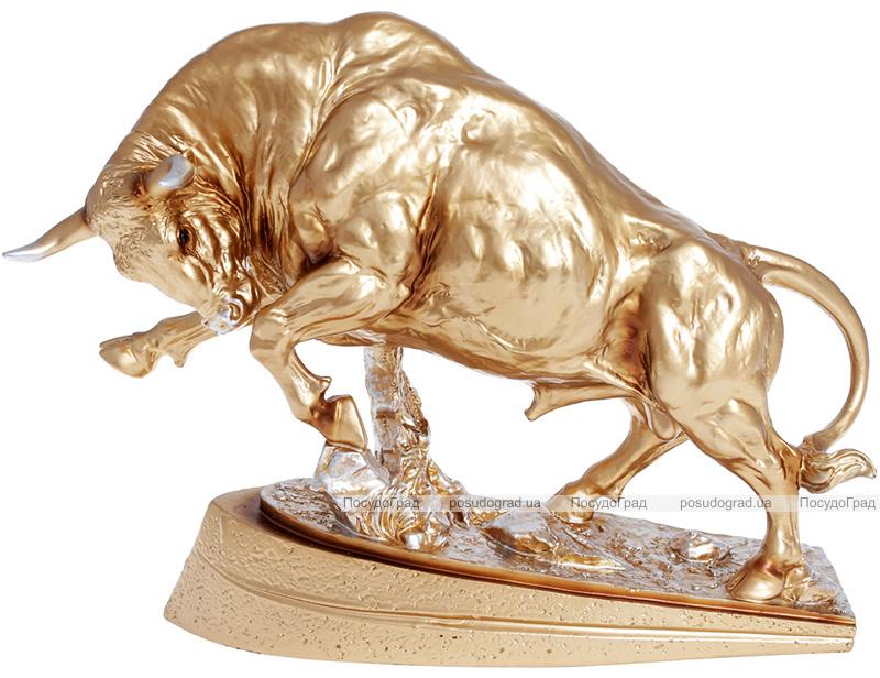 Декоративная статуэтка «Бык» 38х13.5х28.5см, полистоун, золото