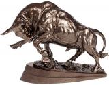 Декоративная статуэтка «Бык» 38х13.5х28.5см, полистоун, бронза