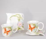 Чайний набір Bright 3D-118 220мл 12 предметів