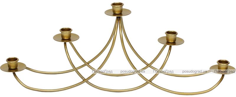 """Подсвечник металлический """"Ravenna Гармония"""" на 5 свечей 56см, цвет - золото"""